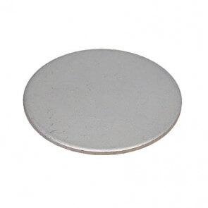 Metallskiver med klebemiddel