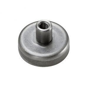 Pottemagnet - ferrit - bøsning / rustfri
