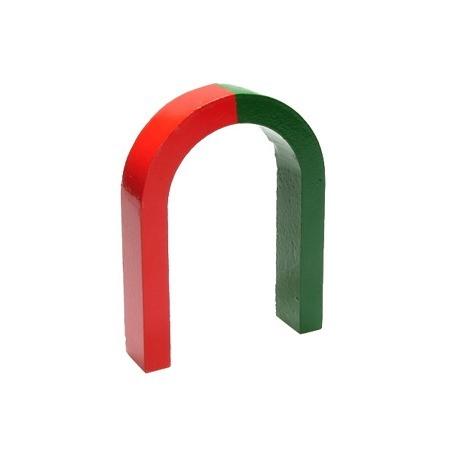 Hestesko magnet - tofarvet